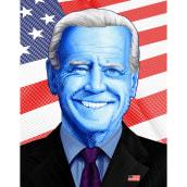 Joe Biden Poster . Un progetto di Illustrazione editoriale di Abraham García - 10.01.2021