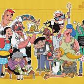 Ilustraciones para app, animación y wellcome pack de tarjeta de crédito. A Illustration, Design von Figuren und Animation von Figuren project by Juanma García Escobar - 04.02.2021