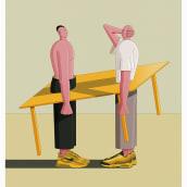 Some illustrations. Un proyecto de Ilustración, Diseño de personajes, Moda e Illustración editorial de Zamo Peza - 04.02.2021