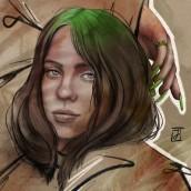 The World's a Little Blurry. Um projeto de Ilustração, Ilustração digital, Ilustração de retrato, Desenho de Retrato, Desenho digital e Pintura digital de Jackie Noëlle - 05.02.2021