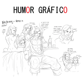 Humor gráfico . A Comic, Drawing, Cartoon, and Digital Drawing project by Rubén de Frutos - 07.26.2020