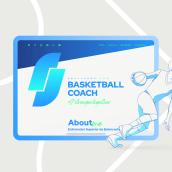 Basketball Coach. Um projeto de Ilustração, Web design e Design de logotipo de Magimo Studio - 08.02.2021