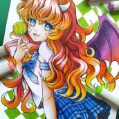 Candy 🍭. Um projeto de Ilustração, Comic, Desenho e Desenho mangá de Tania Oksentiuk - 08.02.2021