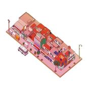 Proyecto Ilustración isométrica- la calle en la que habito CDMX . A Illustration, Vector Illustration, and Digital illustration project by Miguel Angel Velasco Oropeza - 02.09.2021