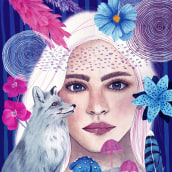 Mi Proyecto del curso: Retrato ilustrado en acuarela. A Digitale Illustration, Aquarellmalerei und Porträtzeichnung project by Nadia Ham - 10.02.2021