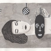 My project in Introduction to Illustration with India Ink course. A Ink Illustration project by Claudia Aurednik - 02.10.2021