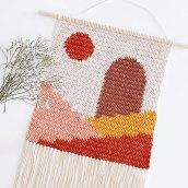 Tapiz Stairs. Um projeto de Artesanato, Ilustração têxtil, Tecido e Crochê de Flor Samoilenco - 11.02.2021