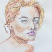 My project in  Watercolor Portrait Sketchbook course. Un progetto di Pittura ad acquerello di koutna.marianna - 11.02.2021