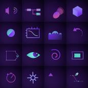 Iconos del After Effects animados en After Effects 😅. Un proyecto de Motion Graphics, Animación, Vídeo, Ilustración vectorial, Animación 2D y Creatividad de Manuel Díaz Delgado - 13.02.2021