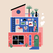 Casa de mi vecino. A Illustration project by Camipepe - 02.15.2021
