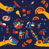 Fiestas Patrias Líder. A Illustration project by Camipepe - 02.15.2021