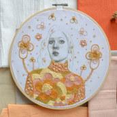 Mi Proyecto del curso: Estampación y bordado de retratos realistas. Un projet de Illustration, Illustration de portrait, Estampillage, Broderie, Tissage , et Dessin numérique de Yamila Yjilioff - 16.02.2021