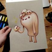 Mi Proyecto del curso: Ilustración con pastel y lápices de colores. A Design von Figuren und Illustration project by Lucia Astuy - 20.02.2021