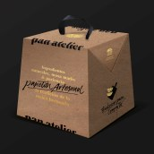 Pan Atelier - Panetón . A H, Lettering, and Packaging project by Paola Vecco - 11.25.2019