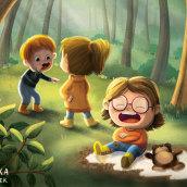 Kids in the forest. Un proyecto de Ilustración infantil e Ilustración digital de Adrika Černáčková - 23.02.2021