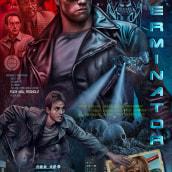 The Terminator . Um projeto de Design de cartaz, Ilustração digital e Ilustração de retrato de Oscar Martinez - 24.02.2021