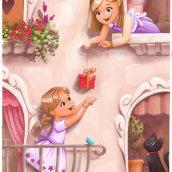My project in  Creating Characters for Children's Stories with Procreate course. Um projeto de Ilustração infantil de Sasha Milić - 24.02.2021
