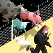 Cut the fences. A Illustration, Digital illustration, and Digital Painting project by Laura Wächter - 04.27.2020