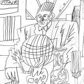 Retratos de Le Corbusier. Um projeto de Desenho a lápis de Catalina Bu - 10.01.2021