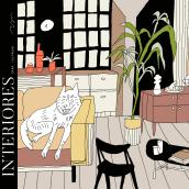 Interiores para colorear - Libro. Um projeto de Ilustração, Desenho a lápis e Design digital de Catalina Bu - 01.01.2021