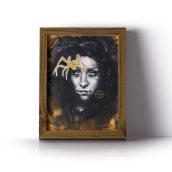 """Ilustración """"La araña está en casa"""". Um projeto de Ilustração, Pintura, Desenho, Ilustração de retrato, Desenho de Retrato e Desenho artístico de Ana Vázquez Trillo - 26.02.2021"""