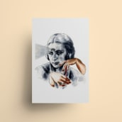 """Ilustración """"El tercer ojo"""". Um projeto de Ilustração, Pintura, Desenho, Ilustração de retrato, Desenho de Retrato e Desenho artístico de Ana Vázquez Trillo - 26.02.2021"""
