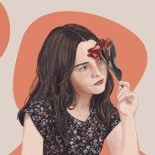 Retrato ilustrado. A Digital illustration, Portrait illustration, Portrait Drawing, and Digital Drawing project by Elisabet FC - 02.28.2021