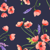 My project in Creating Patterns Using Watercolor course. A Pattern Design project by Elena Lanzoni - 02.28.2021