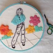 My project in Figurative Fashion Embroidery with Needle Felting course. Un projet de Artisanat de Marie ROUSSEL - 01.03.2021