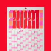 Calendario 2021. Un proyecto de Dirección de arte, Diseño gráfico y Diseño de carteles de Clara Briones Vedia - 01.03.2021