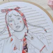Lazo. Un projet de Illustration, Illustration de portrait, Broderie , et Tissage de Yamila Yjilioff - 01.03.2021