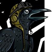 Cuervo: Arte vectorial. Un proyecto de Ilustración digital de Martin Di Filippo - 02.03.2021