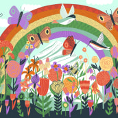 Rainbow puzzle. A Illustration project by Kate Sutton - 05.04.2020