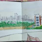 My project in Urban Sketching: Express Your World in a New Perspective course. Un proyecto de Ilustración, Bocetado, Pintura a la acuarela, Ilustración arquitectónica y Sketchbook de Piyali Das - 06.03.2021