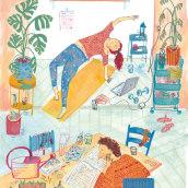 Flow magazine. Un proyecto de Ilustración de Sarah van Dongen - 01.09.2020