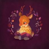 Cosy Winter | Domestika Time-lapse. Um projeto de Ilustração, Ilustração digital e Ilustração infantil de Gemma Gould - 09.03.2021