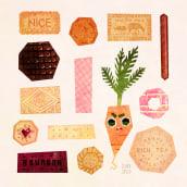 Biscuits. Um projeto de Ilustração, Ilustração digital, Ilustração infantil e Ilustração editorial de Gemma Gould - 09.03.2021