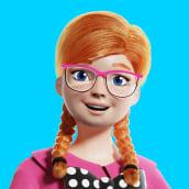 Girl 02. Un proyecto de Ilustración, 3D, Diseño de personajes, Modelado 3D, Diseño de personajes 3D y Diseño 3D de Wesley Sales - 09.03.2021