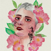 Retrato Ilustrado en Acuarelas II. Un progetto di Illustrazione digitale , e Pittura ad acquerello di Rita Carboni - 10.12.2020