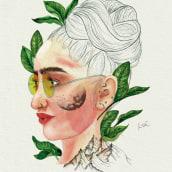 Retrato Ilustrado en Acuarelas IV. Un progetto di Illustrazione digitale , e Pittura ad acquerello di Rita Carboni - 20.12.2020