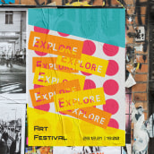 Explore Art Festival. A Advertising, Br, ing, Identit, and Editorial Design project by Aida Moya - 03.10.2021