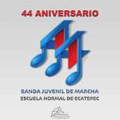 Isotipo BJM 44 Aniversario. Um projeto de Ilustração e Design de logotipo de Martin Mariano Hernandez Tena - 10.03.2021