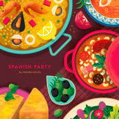 Food Party. A Vector Illustration, and Digital illustration project by Rebombo estudio - 03.11.2021