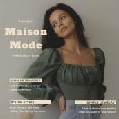 My project in Digital Content for a Fashion and Trend Magazine course. Un progetto di Br e ing e identità di marca di Deborah K - 12.03.2021