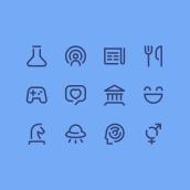 Set de Íconos Vol.1 - Propuesta. Um projeto de Design gráfico e Diseño de iconos de Hermes Mazali - 12.03.2021