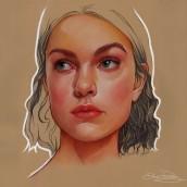 Pastel y lapiz proceso. Un proyecto de Ilustración, Creatividad, Ilustración de retrato y Dibujo de Retrato de Elena Pancorbo - 11.03.2021