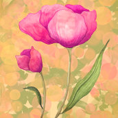 My project in Botanical Illustration with Watercolors course. Un projet de Aquarelle de Kitty Wong - 12.03.2021
