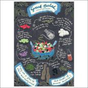 Greek Salad. A Illustration, Digitale Illustration, H und Lettering project by lynkalogirou - 13.03.2021