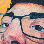 Autorretrato en pasteles de óleo. A Fine Art, Creativit, Drawing, Portrait Drawing, Artistic drawing, and Oil painting project by Mario Javier Hernández Moreno - 03.16.2021