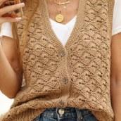 Chaleco Folk SP. A H, werk, DIY und Crochet project by Estefa González - 16.03.2021
